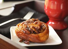 Pecan Sticky Buns. Light, full of flavor-the cinnamon filling complementing the glazed caramel topping.