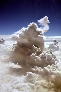 Thunderstorm from the plane by Signalkuppe 4:3, via Flickr