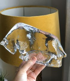 Excited to share this item from my shop: Crystal glass bull sculpture figurine Pukeberg Sweden designed by Uno Westerberg in the Ice Sculptures, Art Forms, Hand Cast, Hand Blown Glass, Crystals, True Beauty, Midcentury Modern, Sweden, 1960s