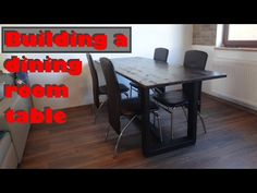 How to Build a Minimalist Dining Table using steel and wood - DIY project Diy Wood Projects, Dining Room Table, Minimalist, Building, Youtube, Furniture, Home Decor, Dining Table, Decoration Home