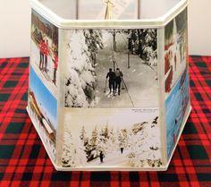 Ski Postcard Lamp Shade Vintage Skiing Post Card by lampshadelady, $55. lakeslampshades.com