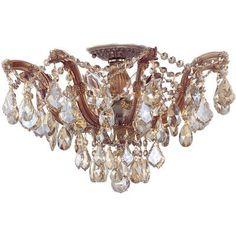 House of Hampton Griffiths 5 Light Semi Flush Mount Finish: Polished Chrome, Crystal Type: Hand Polished