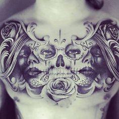 unique chest tattoo