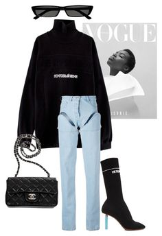 """"""""""" by sigridurr ❤ liked on Polyvore featuring VFiles, Y/Project, Balenciaga, Chanel and Vetements"""