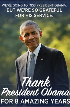 Today is President Obama's official last day in office. We can barely believe it. The entire country is going to miss him so much. Sign the card and say Goodbye. #ThankYouObama http://action.dccc.org/card/thank-you-obama