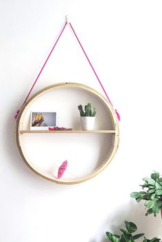 make a simple round hanging shelf