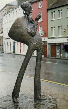 WB Yeats statue by Rowan Gillespie,   Sligo, Ireland