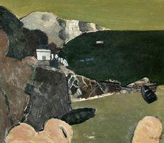 'Coast above Berwick I' (1952) by British painter Keith Vaughn (1912-1977). Oil on board, 35.5 x 42.3 cm. via BBC