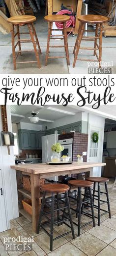 Nice Looking For Ways To Update Your Decor? Take Your Dated Furniture And Give  It A Fresh New Look Like My Farmhouse Bar Stools. Itu0027s Easy And Budget  Friendly!