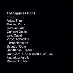 The signs as Gods – i don't care if this is inaccurate. Gemini is Loki. Zodiac Funny, Capricorn Quotes, Zodiac Signs Capricorn, Zodiac Traits, Zodiac Memes, Zodiac Star Signs, Zodiac Sign Facts, Zodiac Horoscope, My Zodiac Sign
