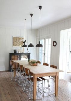 dining room: almost a schoolhouse vibe here