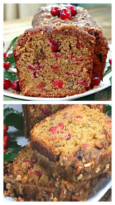 I have served this yummy bread so many times and it's always so loved! Moist, sweet-tangy, buttery, nutty and with a praline topping that bring this Cranberry Bread over the top – guaranteed deliciousness in every bite! Best Bread Recipe, Quick Bread Recipes, Cake Recipes, Dessert Recipes, Cooking Recipes, Recipes Dinner, Drink Recipes, Cranberry Bread, Cranberry Recipes