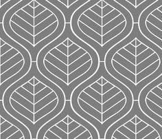 Rrrbohemian_mod_gray2_shop_preview - Spoonflower.com - wallpaper for below the chair rail, make pillow shams to match