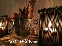 incredibly easy and quick wire candleholder from Spain Hill Farm