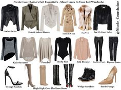 Nicole Courchaine's fall essentials - must haves in your fall wardrobe! full blog post and celebrity fall fashion inspo www.nicolecourchaine.blogspot.ca