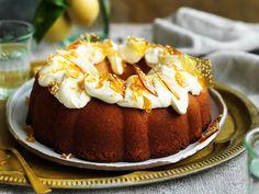 Lemon cake with mascarpone frosting, lemon recipe, brought to you by Australian Women's Weekly