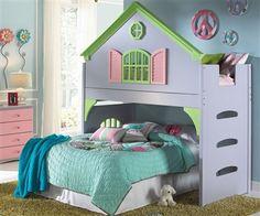 Doll House Loft Bed http://www.ekidsrooms.com/Doll_House_Loft_Bed_p/dwf0301.htm