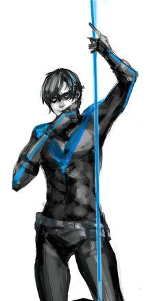 Nightwing by JosukeKato http://josukekato.deviantart.com/art/Nightwing-346012004