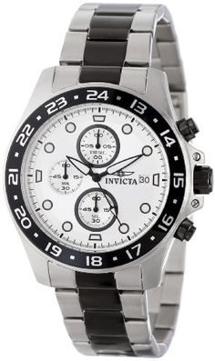 Invicta Men's 15209 Pro Diver Chronograph Silver Dial Two Tone Stainless Steel Watch #Invicta