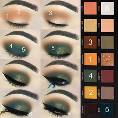 ABH subculture makeup tutorial: step by step are the green and orange tones of the hunter - Makeup İdeas - Make-up - Makeup Guide, Eye Makeup Tips, Makeup Goals, Skin Makeup, Makeup Inspo, Eyeshadow Makeup, Makeup Ideas, Eyeshadow Brushes, Makeup Brushes