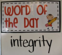 3rd Grade Thoughts: word of the day