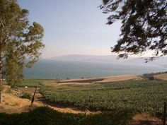 Sea of Galilee as seen from the Mount of Beatitudes