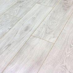 New Emotion Girona Chestnut White 8mm V-Groove Laminate Flooring