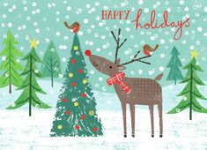 Joanne Cave   Advocate Art Happy Birthday Floral, Happy Birthday Wishes, 1st Christmas, Christmas Projects, Christmas Patterns, Xmas, Caterpillar Book, Happy Holidays Wishes, Winter Illustration