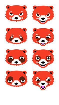 I love Rob Mackinder's designs, doodles and poster work. I nabbed this from his Facebook 'cos I love it... RED PANDAS!!!