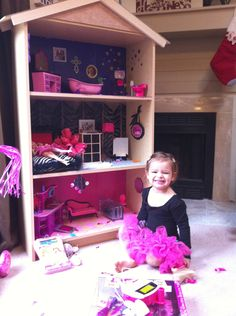 Barbie house out of bookshelf!