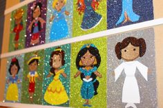 Glitter Side: Paper Dolls Disney Series Glitter Art, Paper Dolls, Kids Rugs, Disney, Painting, Decor, Decoration, Kid Friendly Rugs, Paper Puppets
