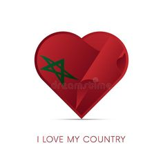 Illustration about Morocco flag in heart. I love my country. Illustration of national, nation, symbol - 109530209 Morocco Flag, Pride, Symbols, Sign, Country, Abstract, My Love, Heart, Illustration