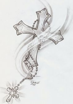 Rosary Cross Shine Tattoo By 2face Jpg 4