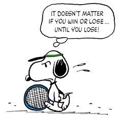 Snoopy Losing a Tennis Match