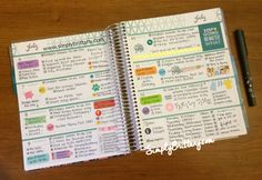 Getting organized with my Erin Condren LifePlanner and stickers from Planner Press.
