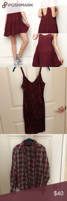 3 item bundle. Velvet dress is nwot. Various brands and sizes. No flaws. Brandy jada dress. Dresses