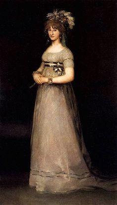 FRANCISCO DE GOYA RETRATO DE MARIA LUISA DE BORBON Y VILLABRIGA DUQUESA DE CHINCHON 1801
