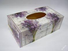 Dřevěná krabička na kapesníky - Levander Flower (6179738156) - Aukro - největší obchodní portál