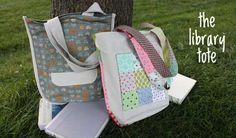 Free Bag Pattern and Tutorial - Library Tote Bag