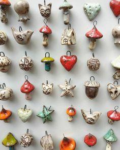 Ceramic Necklace, Ceramic Pendant, Ceramic Jewelry, Ceramic Clay, Ceramic Beads, Clay Beads, Ceramic Pottery, Ceramic Houses, Polymer Clay Crafts
