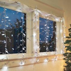 LED Light Curtain, Christmas Lights, Holiday Decorations | Solutions #SolutionsPinIt