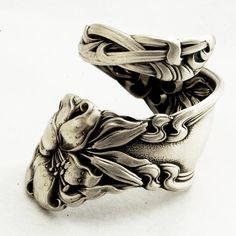 Spoon Ring Lovely Frontenac Victorian Era Sterling by Spoonier, $68.00