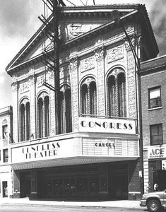 Chicago - Congress Theater- On Milwaukee Avenue- Logan Square Area-Saw may Movies as a child there.