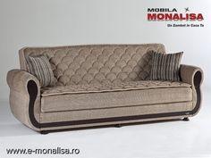 Canapea Extensibila cu Lada Argos | Canapele pe Saltea cu Arcuri
