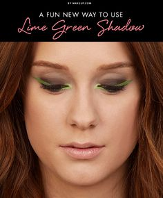 It's DEFINITELY time to switch up your makeup routine with some fun colors! Like lime green, maybe? Don't let the sound of the color scare you and take our word for it: lime green eye shadow is simply gorgeous! Here's how to pull off this fun and edgy look.