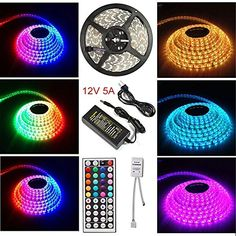 Color Changing Rope Lights Pleasing Besdata Celebration Lighting 164Ft 5M Waterproof Rope Lights 300 Review