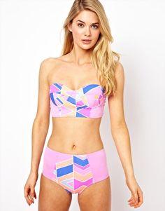 Zinke Chevron Print Bikini at ASOS