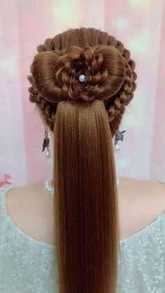 Hairdo For Long Hair, Easy Hairstyles For Medium Hair, Braided Hairstyles Tutorials, Pretty Hairstyles, Cute Hairstyles, Wedding Hairstyles, Front Hair Styles, Medium Hair Styles, Hair Videos
