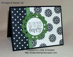 Yippee Skippee! Stamp set from Stampin' Up! combined with Modern Medley DSP and the Perfect Pennants Bigz Die.  Full details can be found on my blog: http://lindasstampinescape.com