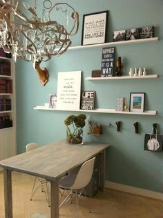 & & & & Wall color for study room? Home And Living, Living Room, Student Room, Room Decor, Wall Decor, Wall Art, Home And Deco, New Room, House Colors
